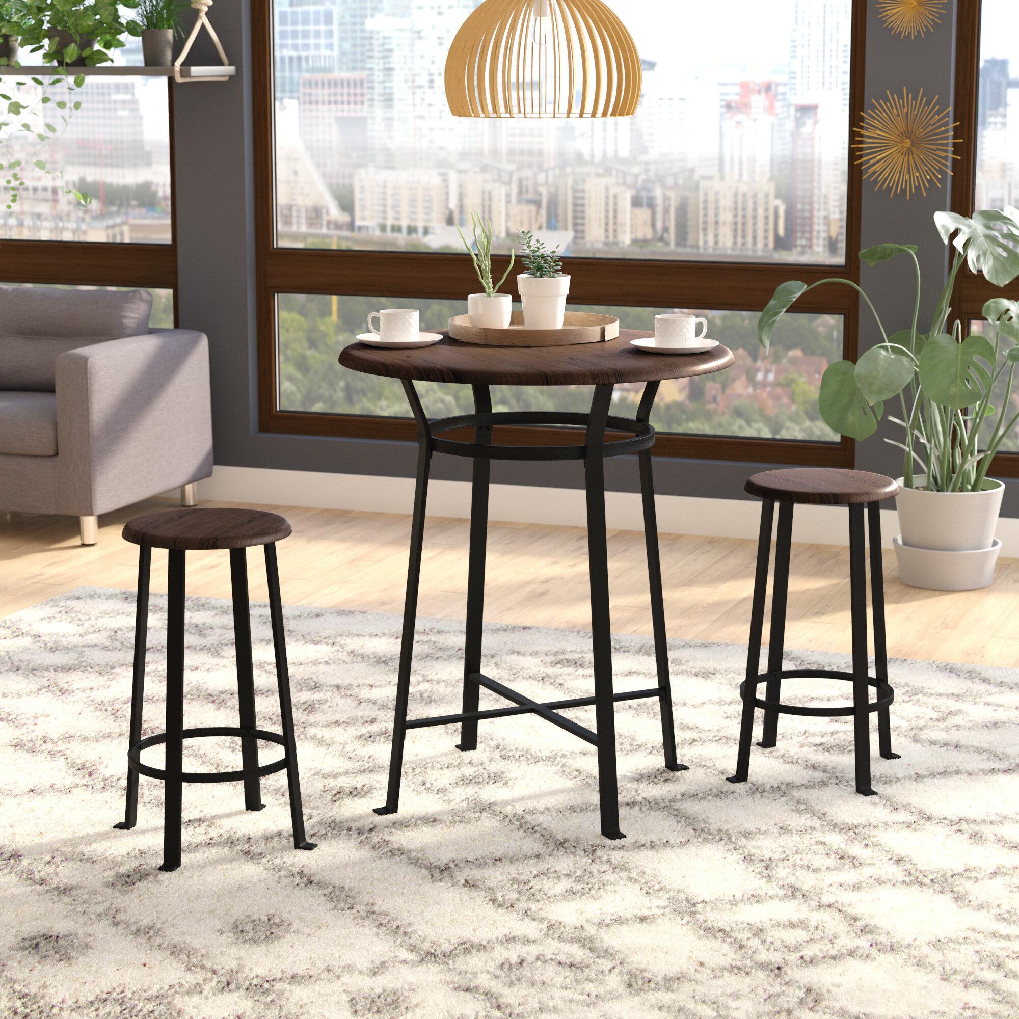 Ebern Designs Grandview 3 Piece Dining Set U0026 Reviews   Wayfair