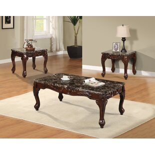 3 Piece Black Coffee Table Set Wayfair