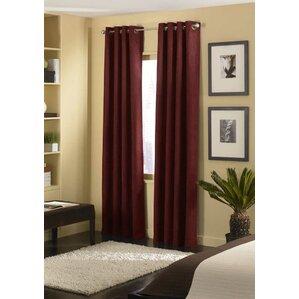 cameron solid semisheer grommet single curtain panel