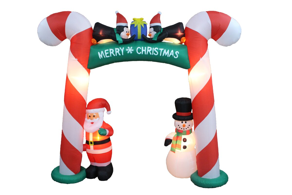 The Holiday Aisle Christmas Inflatable Candy Cane Arch