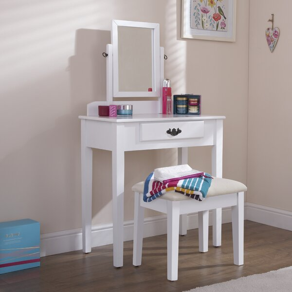 Andover Mills Sheila Dressing Table Set With Mirror
