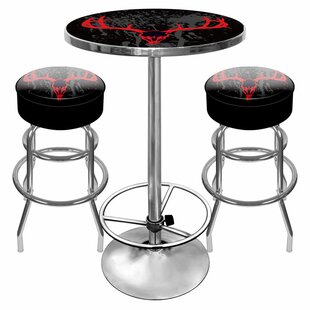 Hunt Skull Game Room 3 Piece Pub Table Set Reviews