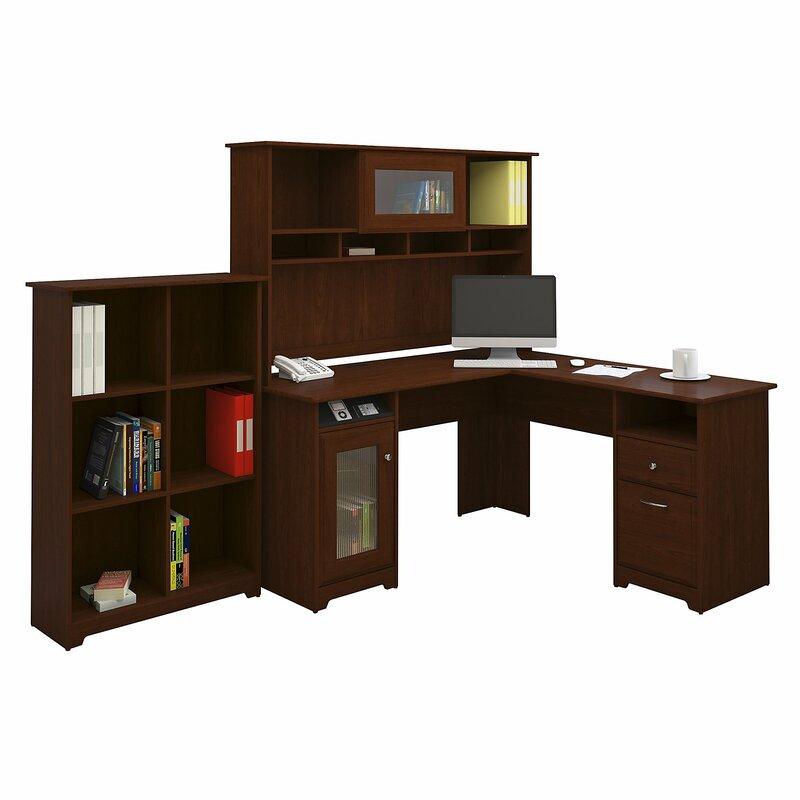 Red Barrel Studio Hillsdale 3 Piece L Shaped Desk Set With