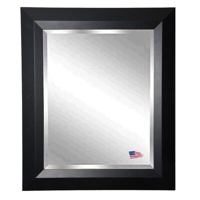 Brayden Studio Solid Black Angle Wall Mirror Size: 35.5 H x 23.5 W x 0.75 D