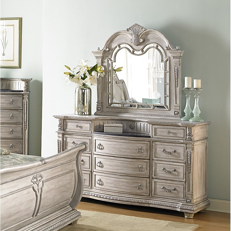 Astoria Grand Toddington 11 Drawer Dresser With Mirror