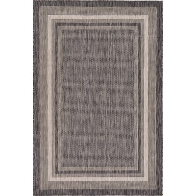 Sol 72 Outdoor Denning Black Indoor/Outdoor Area Rug Rug Size: Rectangle 7' x 10'