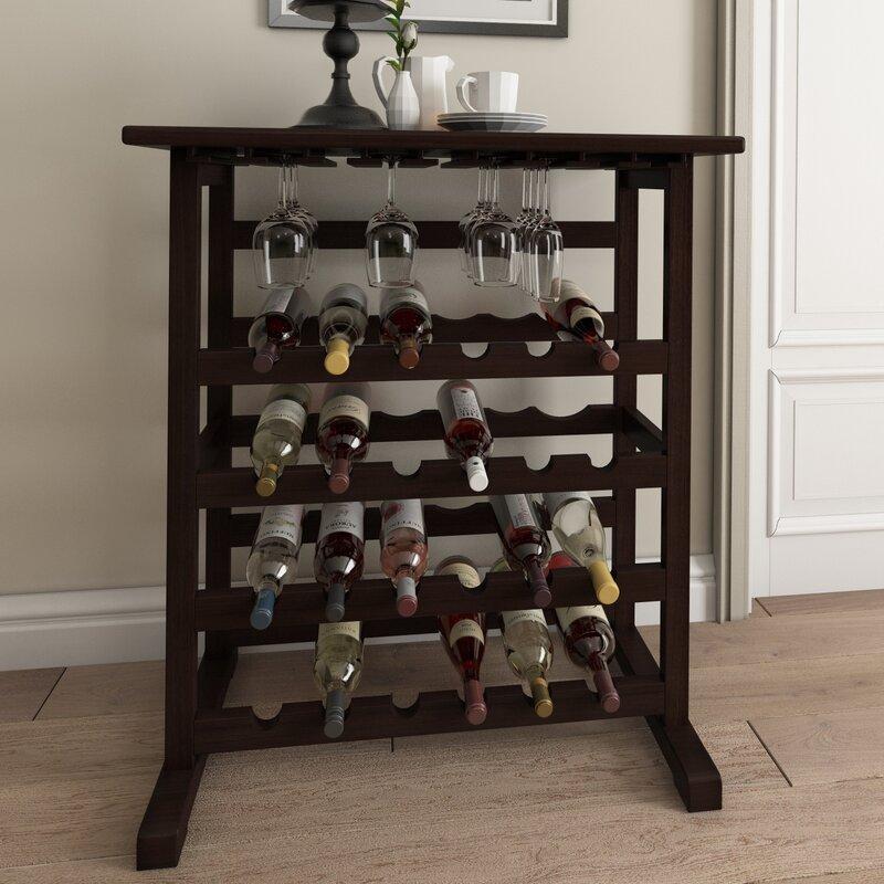 wine rack. Eliza 24 Bottle Floor Wine Rack Wayfair