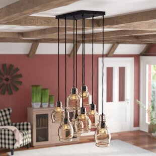 Pruett Cognac Glass 8 Light Cluster Pendant