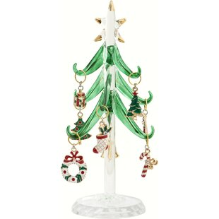 tree with enamel holiday wine ornament