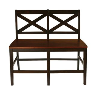 Dacosta Counter HT. Bench - X Back - Chestnut in Chestnut