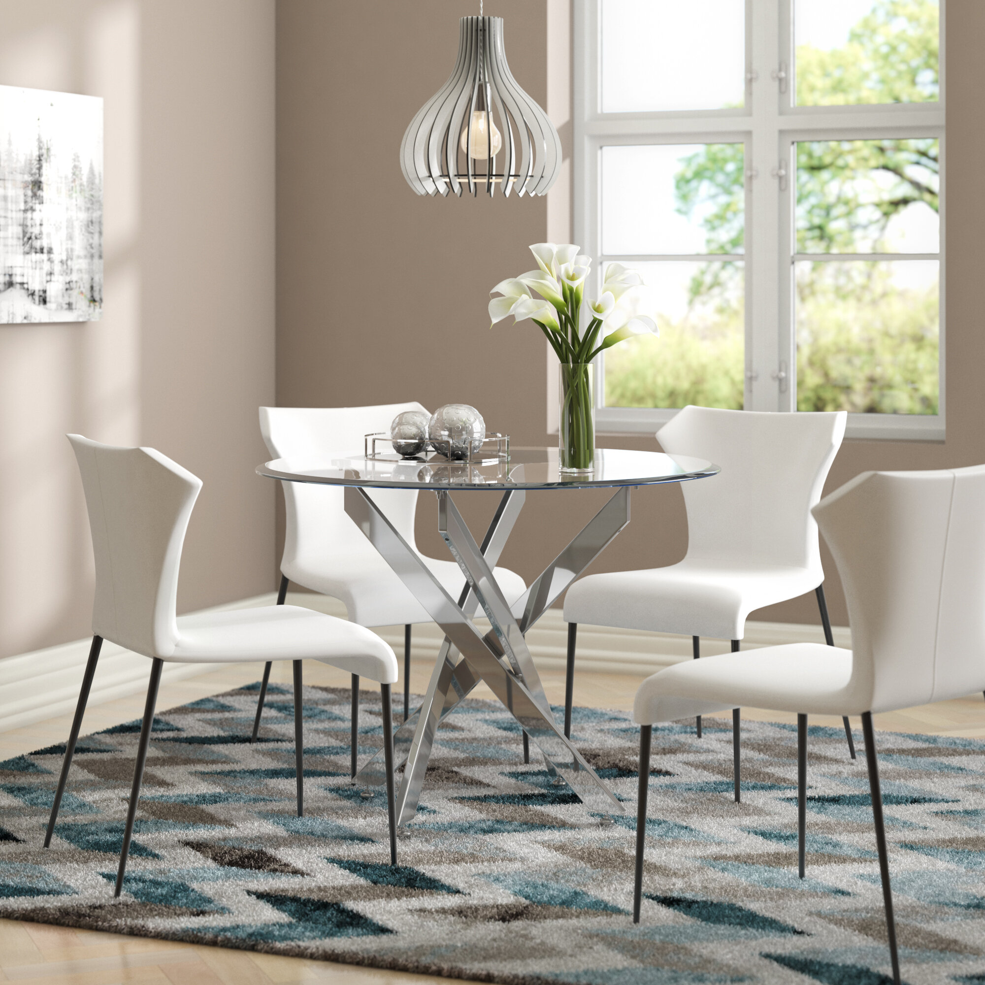 Smoked Glass Dining Table | Wayfair co uk