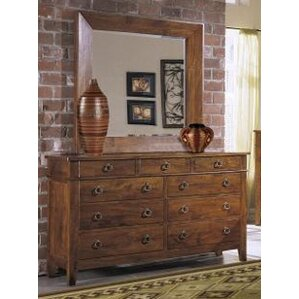 Baxter 9 Drawer Dresser with Mirror by Klaussner Furniture