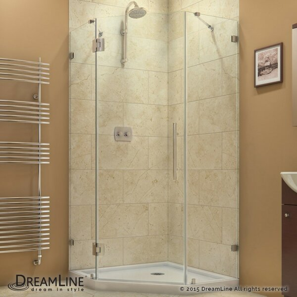 home sliding enclosure shower inch corner door framed in chrome en cornerview handle with x dreamline p