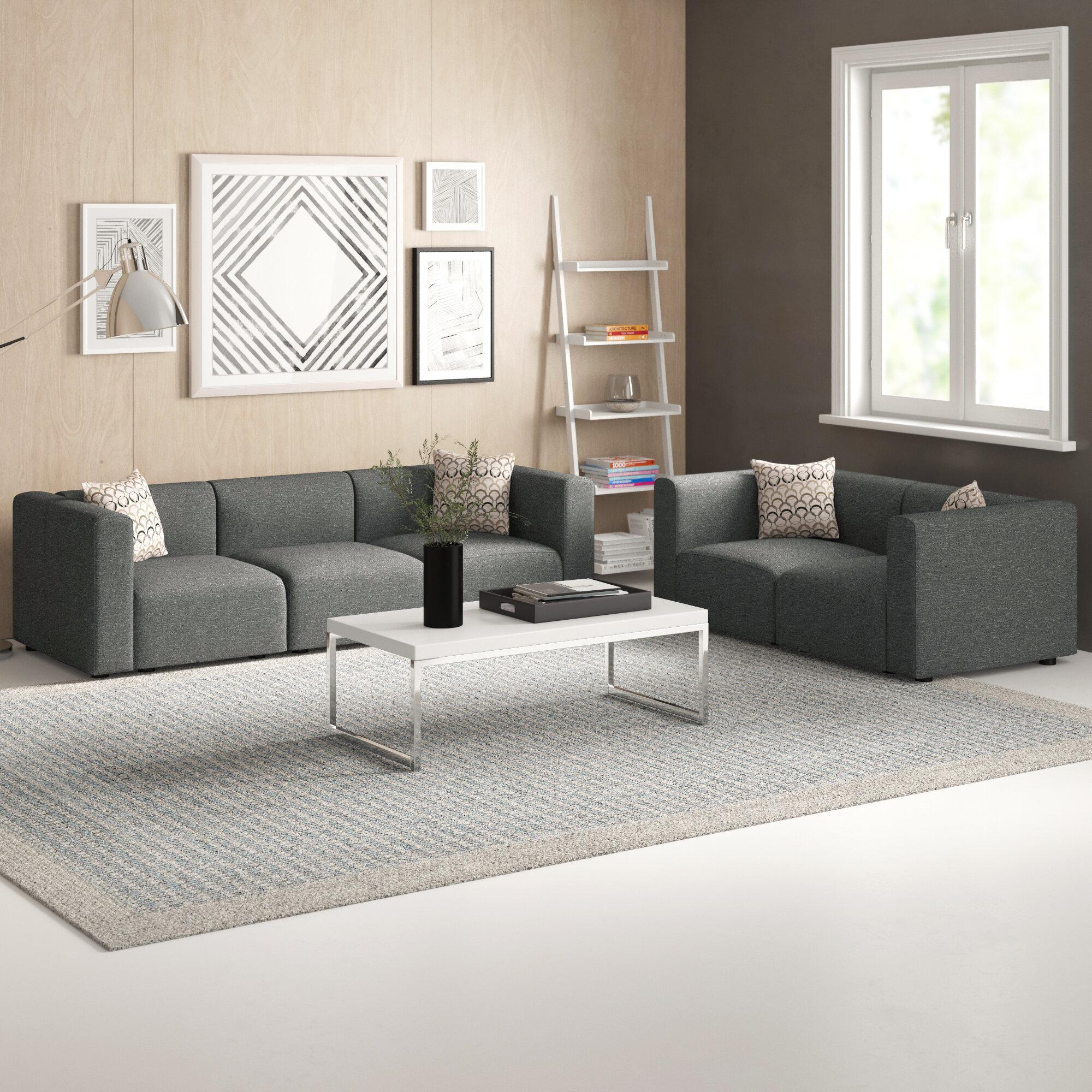 Zipcode Design Nash 2 Piece Modular Living Room Sofa Set
