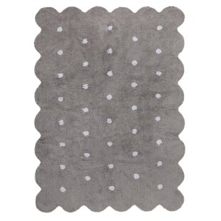Hand-Tufted Grey Area Rug by Lorena Canals