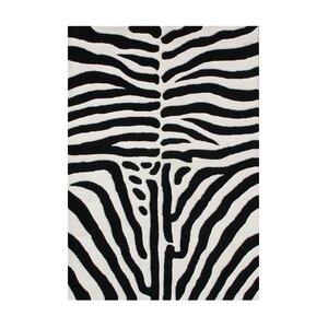 Walton Hand-Tufted Black/White Area Rug