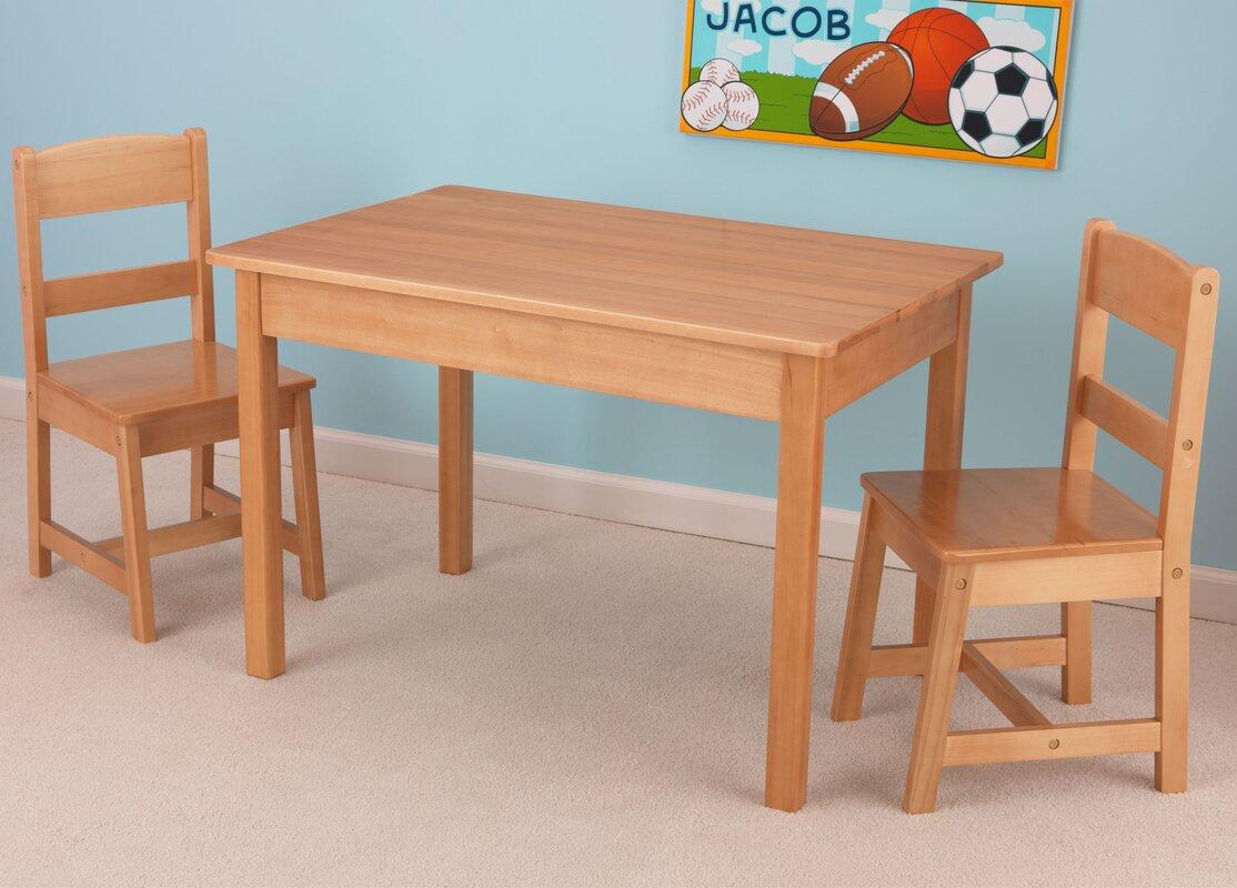 Delightful Kids 3 Piece Wood Table U0026 Chair Set