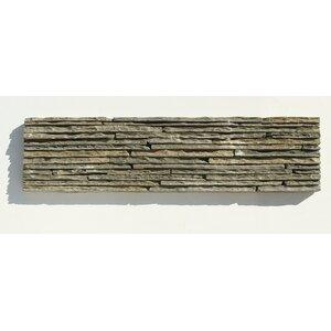 Portico Slate Random Sized Stone Splitface Tile in Dark Green