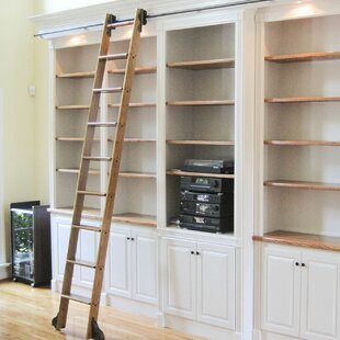 Attirant Library Rolling Ladder Kit   Wayfair