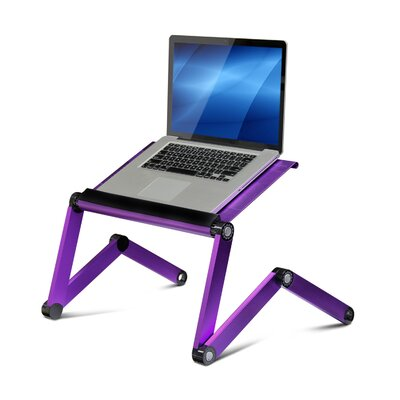 Rebrilliant Judd Vented Laptop Table / Portable Bed Tray Book Stand Color: Purple