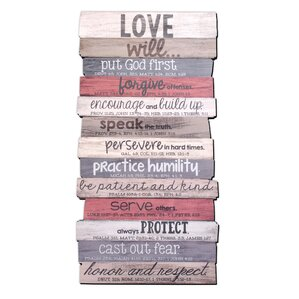 Love Stacked Wood Word Study Wall Dcor