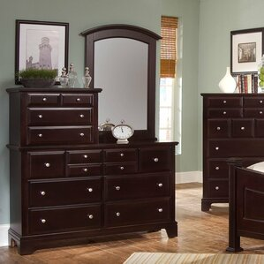 Cedar Drive 10 Drawer Dresser with Mirror by Darby Home Co