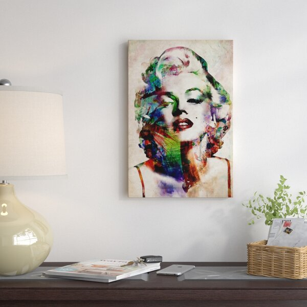 East Urban Home Watercolor Marilyn Monroe Graphic Art