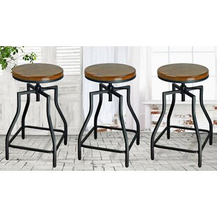Adjule Height Bar Stool Set Of 3