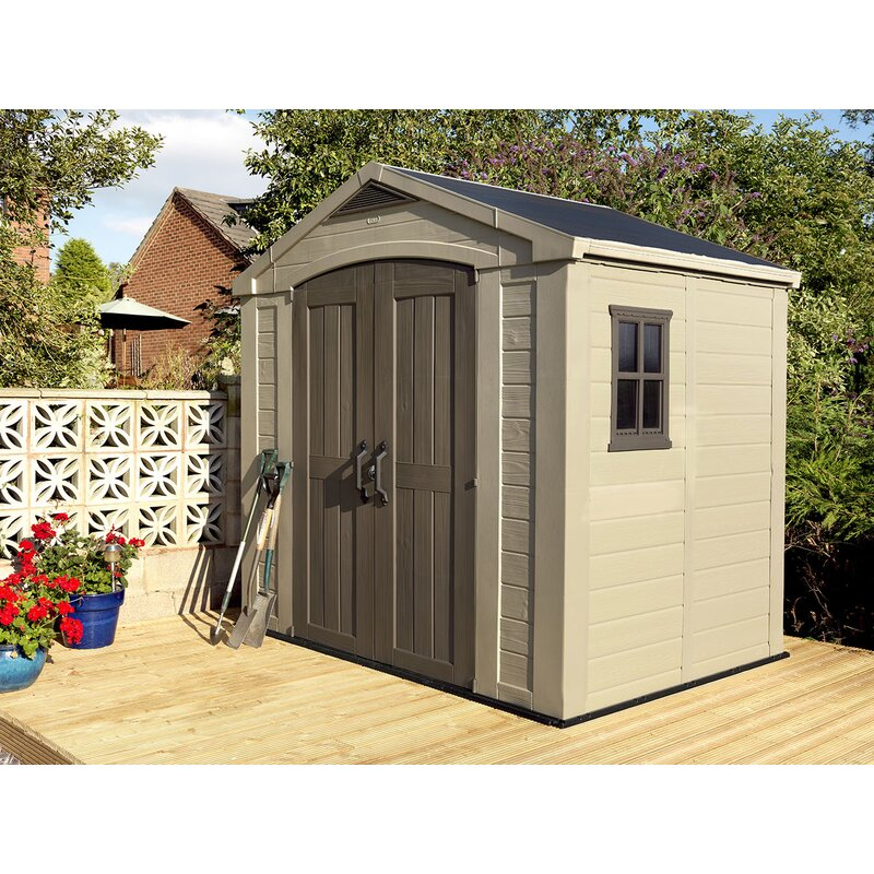 Keter Factor 8 Ft. 5 In. W X 6 Ft. D Plastic Storage Shed & Reviews