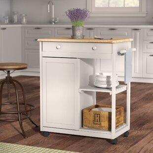 Woolsey Kitchen Cart with Wooden Top
