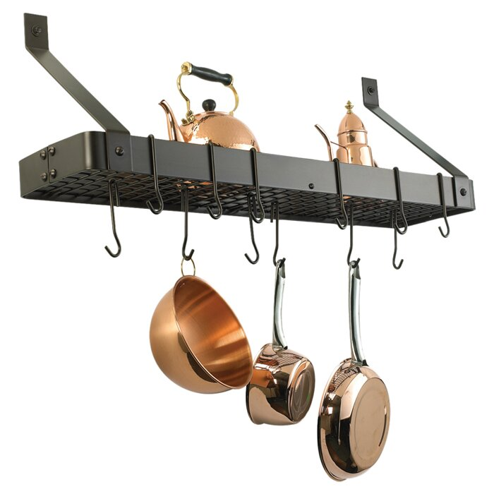 Old Dutch Wall Mounted Pot Rack with Grid & Reviews | Wayfair