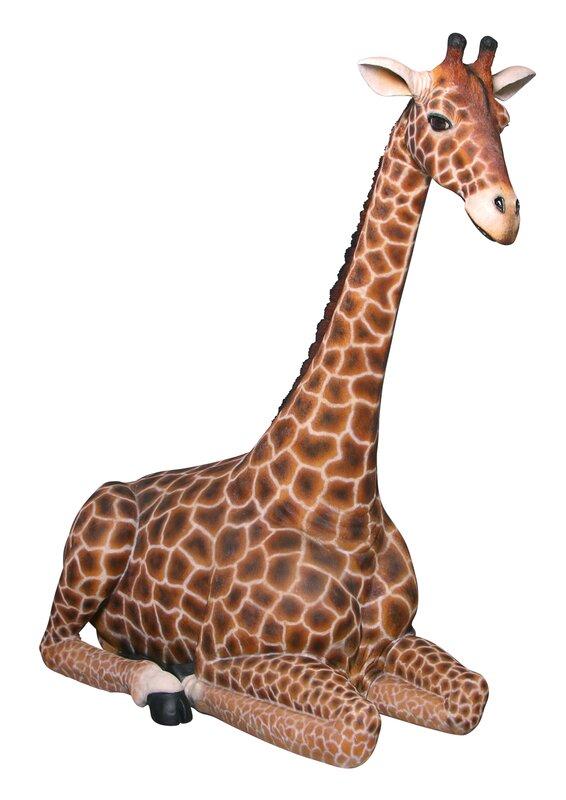 Dakarai Sitting Giraffe Garden Statue