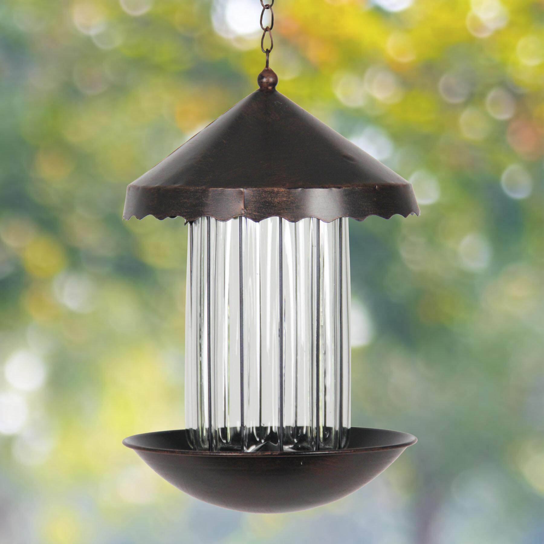 Exhart Solar Tube Bird Feeder   Wayfair