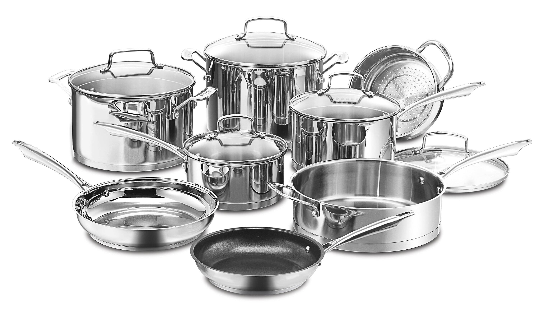 Cuisinart Professional 13 Piece Stainless Steel Cookware Set Reviews Wayfair