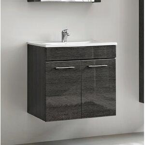 Belfry Bathroom 57 cm Wandmontierter Waschtisch Viento mit Spiegel, Armatur und Schränken