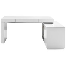waterman lshape computer desk with hutch - Modern Computer Desk