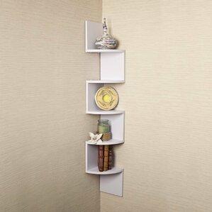 large laminated corner wall mount shelf - Wall Mount Shelf