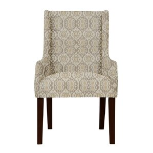 Larrabee Beige Arm Chair by Red Barrel St..