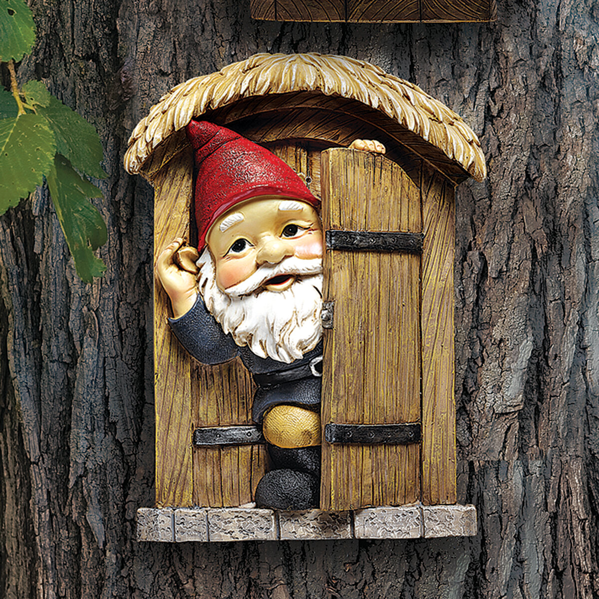 Design Toscano Knothole Door Gnome Garden Welcome Tree Wall Decor U0026 Reviews  | Wayfair