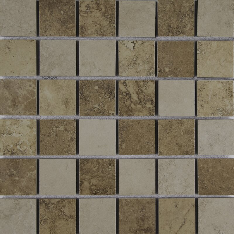 Msi Venice 2 X 2 Porcelain Mosaic Tile In Mixed Wayfair
