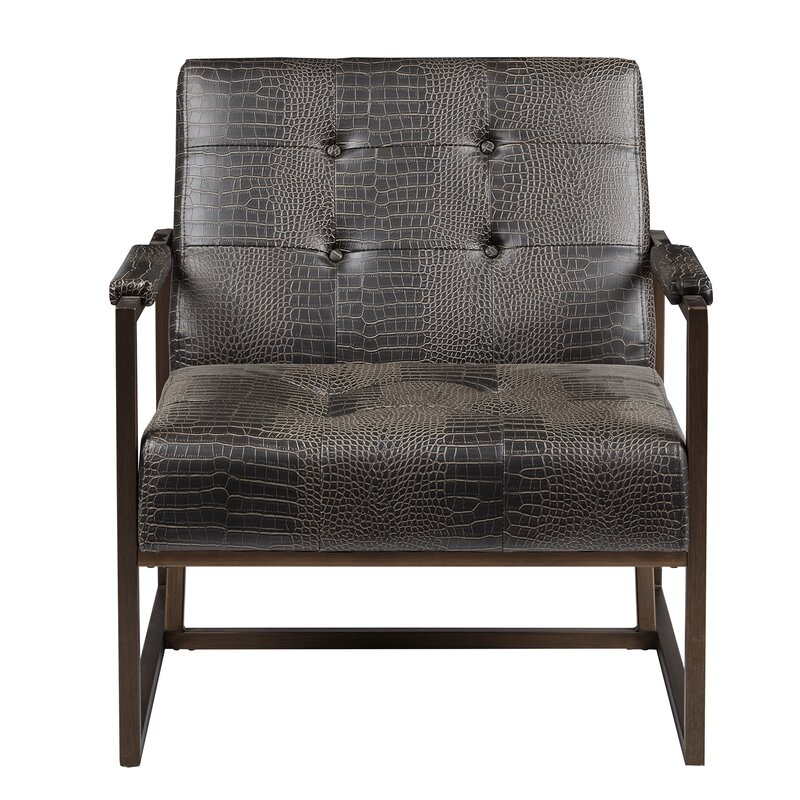Incroyable Cateline Faux Leather Armchair