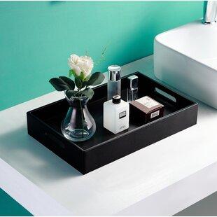 Charmant Villalon Leather Bathroom Accessory Tray