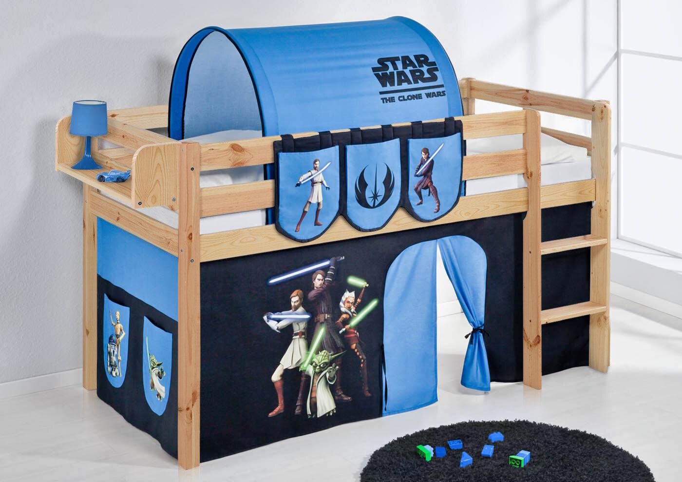 Etagenbett Wayfair : Star wars hochbett mit hochbettvorhang 90cm x 200cm