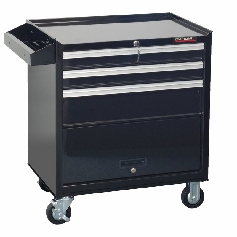 CraftLine Garage 3 Drawer Rolling Tool Cabinet with Storage ...