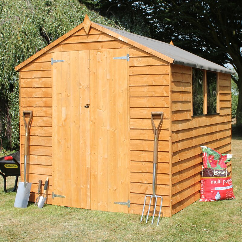 6 x 8 wooden overlap apex storage shed