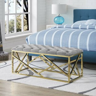 Blue Gold Bedroom Benches You\'ll Love | Wayfair