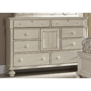 Newport 8 Drawers Combo Dresser by American Woodcrafters