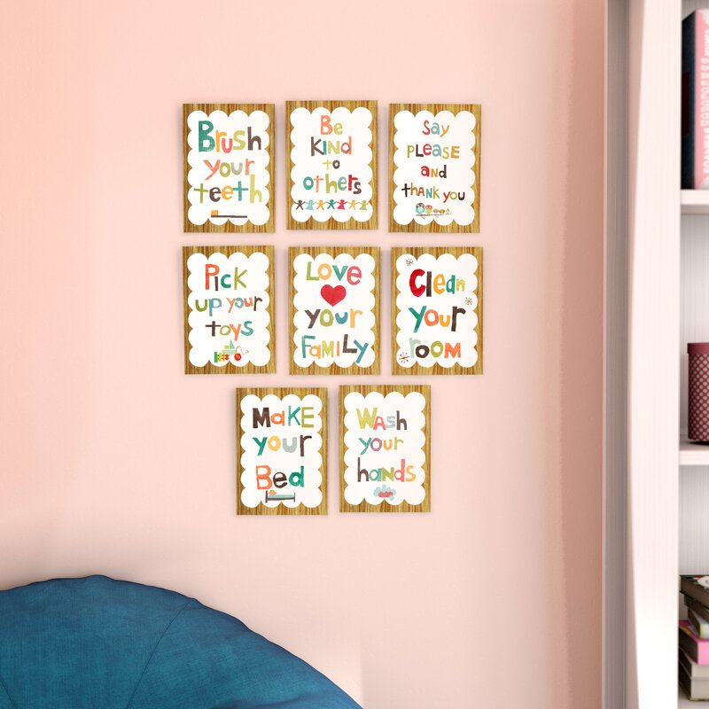 Viv + Rae Juergens 8 Piece Good Manners Wall Card Set & Reviews ...