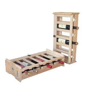 Stacking Wooden Floor Wine Bottle Rack (Set of 2) by Merry Products