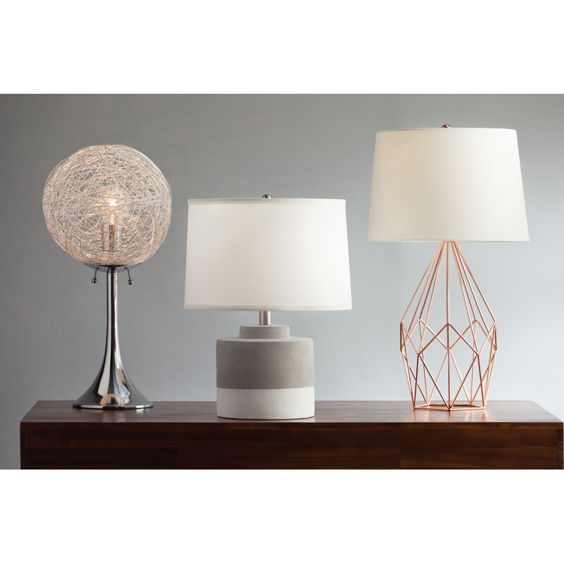Cole grey metal wire 23 table lamp reviews wayfair metal wire 23 table lamp greentooth Image collections